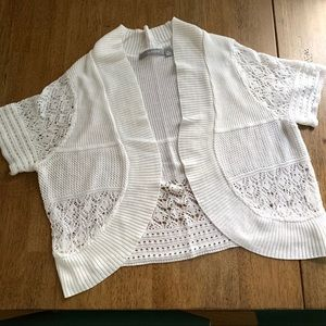 White crochet shrug shall bolero